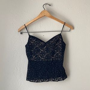 Forever 21 Lace and Sequin Crop Top
